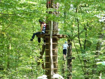 Parcours d'accrobranche en forêt de Verzy ©PNRMR